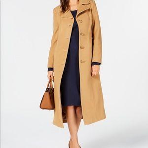 Ann Klein Wool Cashmere Blend Trench Coat